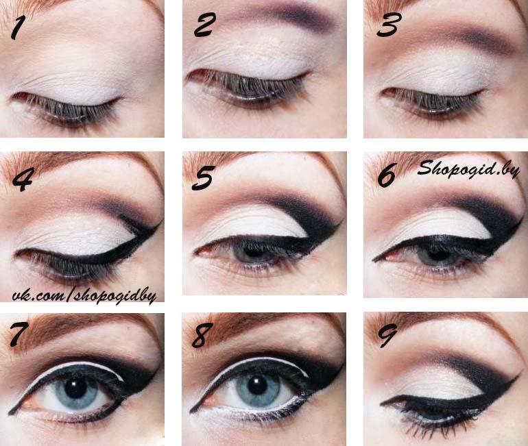 Как сделать стрелку на глазах легко и 832